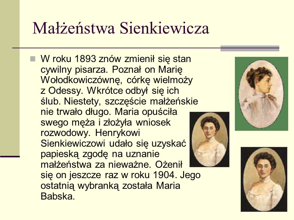 Małżeństwa Sienkiewicza