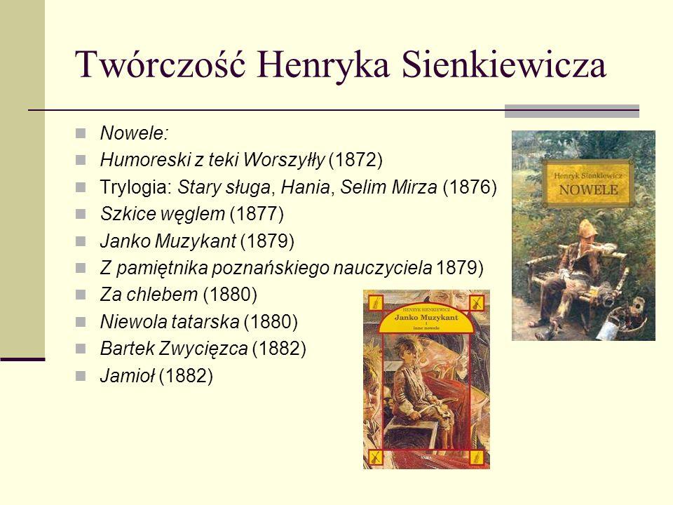 Twórczość Henryka Sienkiewicza