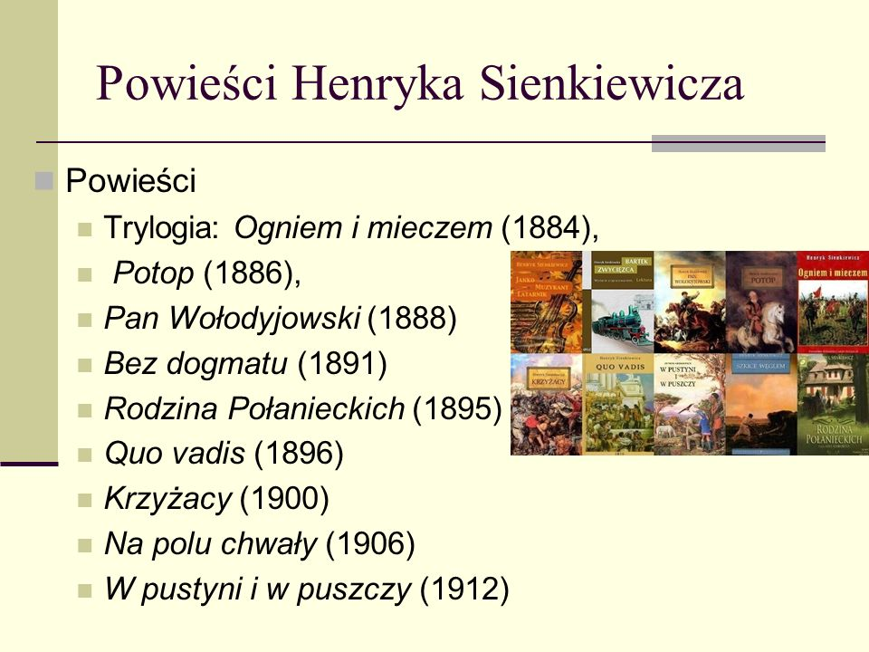 Powieści Henryka Sienkiewicza