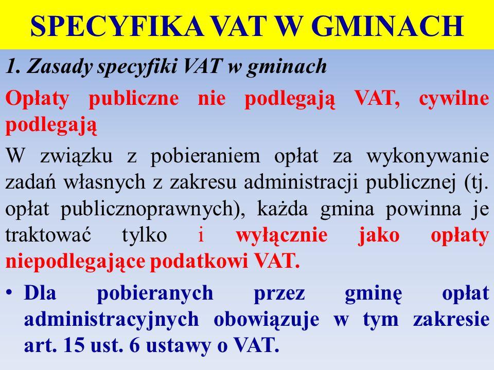 SPECYFIKA VAT W GMINACH