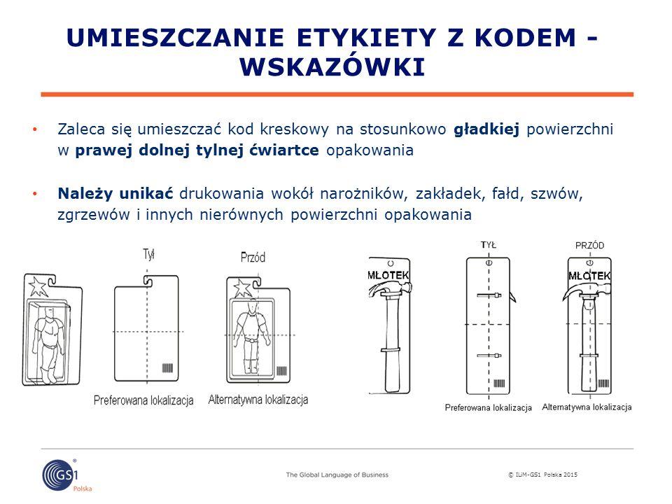 Umieszczanie etykiety z kodem - wskazówki