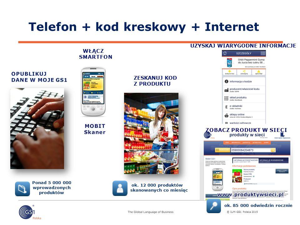 Telefon + kod kreskowy + Internet