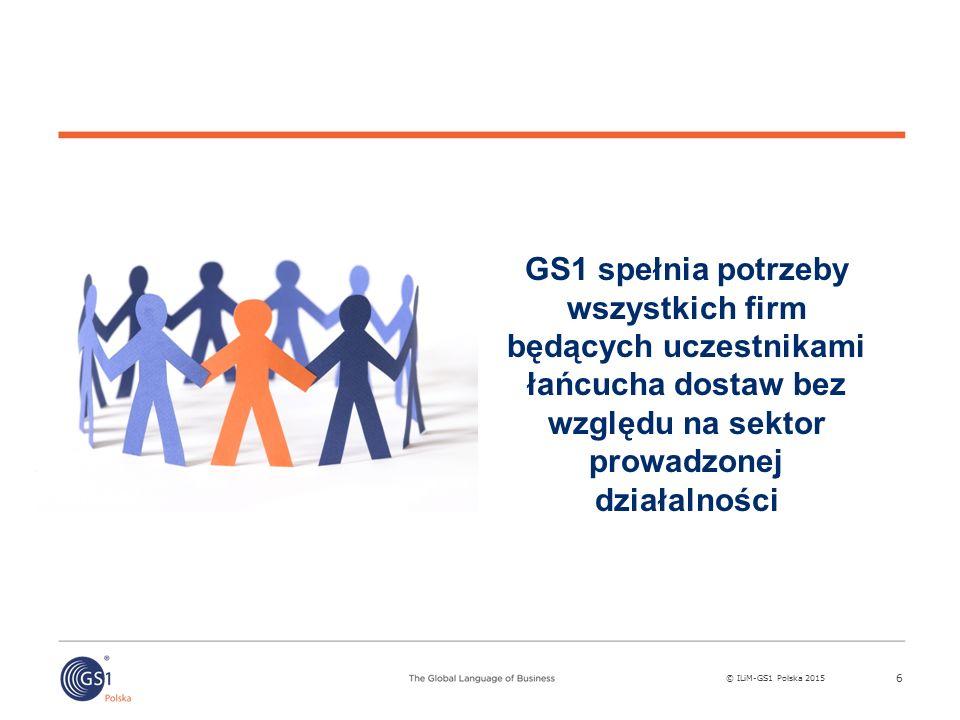 GS1 spełnia potrzeby wszystkich firm będących uczestnikami łańcucha dostaw bez względu na sektor prowadzonej działalności