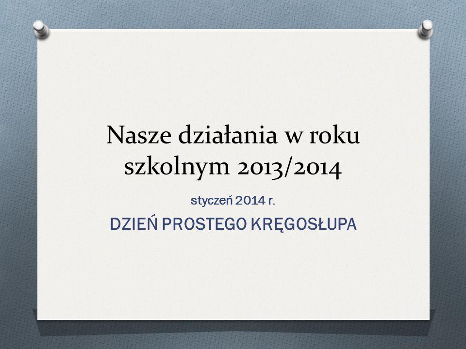 Nasze działania w roku szkolnym 2013/2014