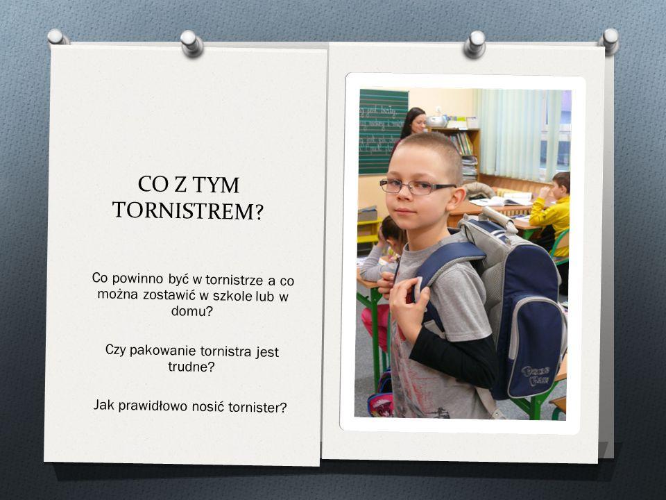 CO Z TYM TORNISTREM Co powinno być w tornistrze a co można zostawić w szkole lub w domu Czy pakowanie tornistra jest trudne