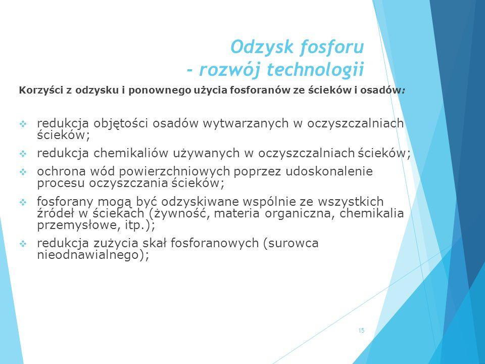 Odzysk fosforu - rozwój technologii