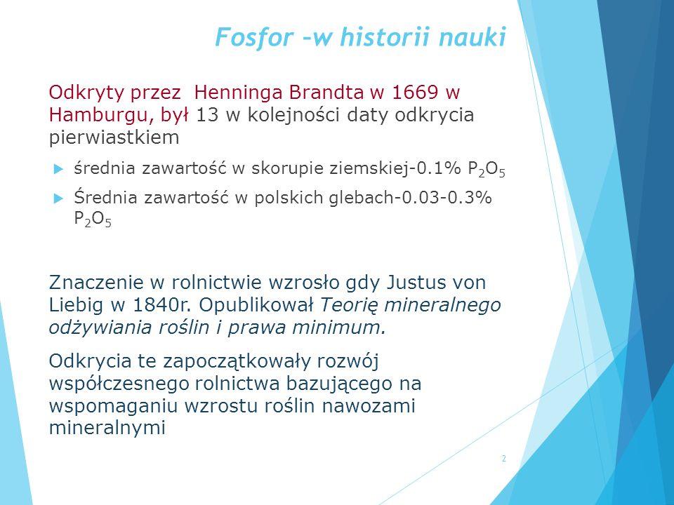Fosfor –w historii nauki