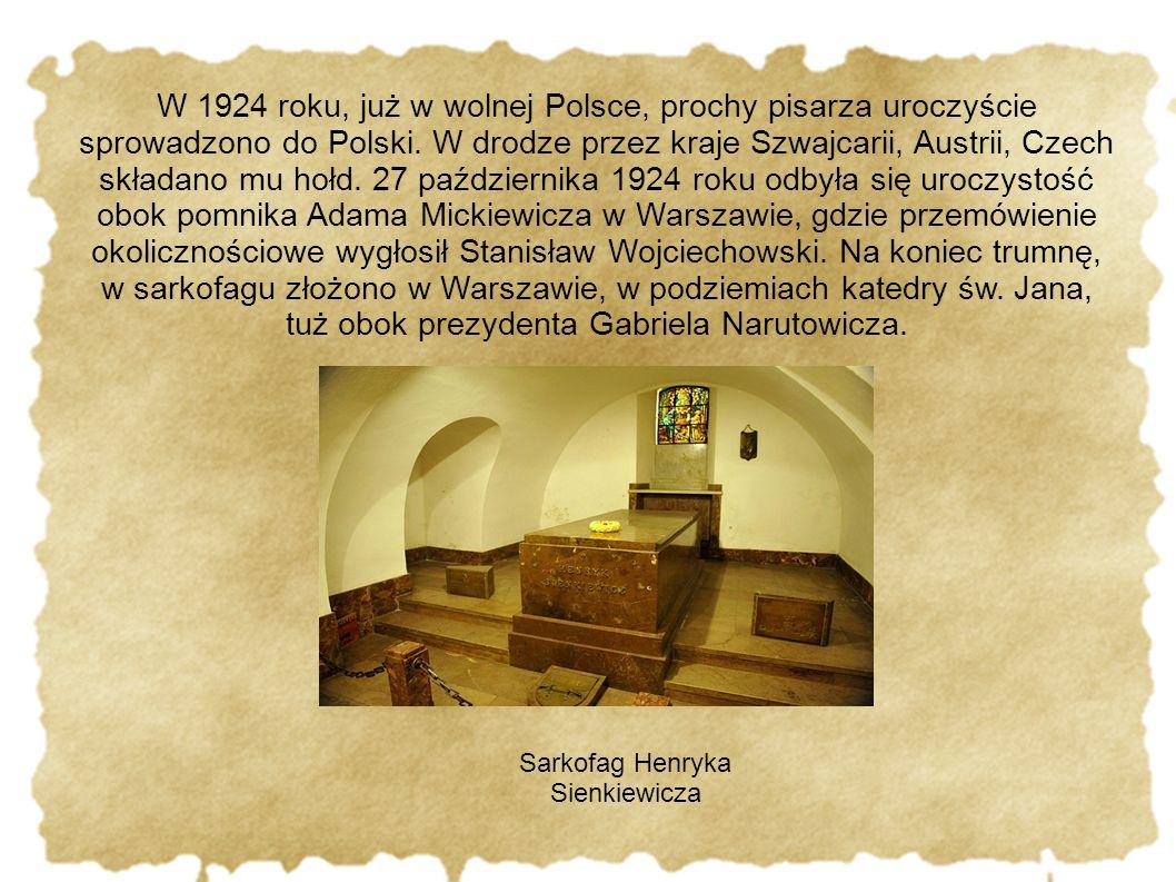 Sarkofag Henryka Sienkiewicza