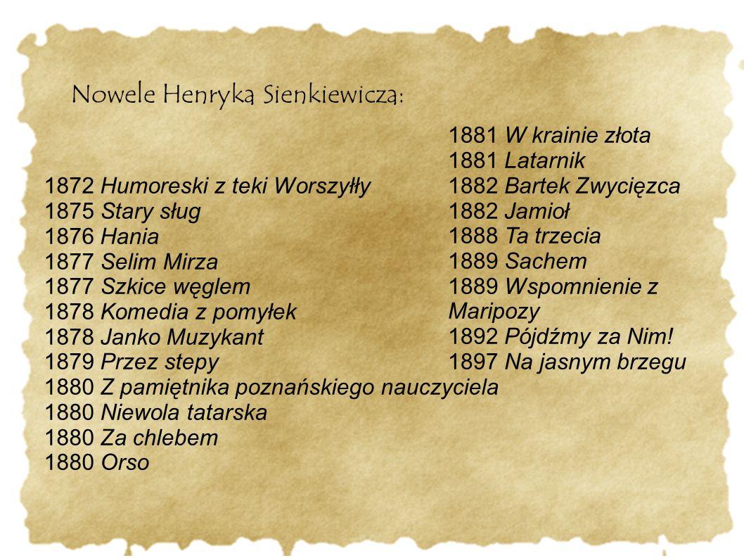Nowele Henryka Sienkiewicza: