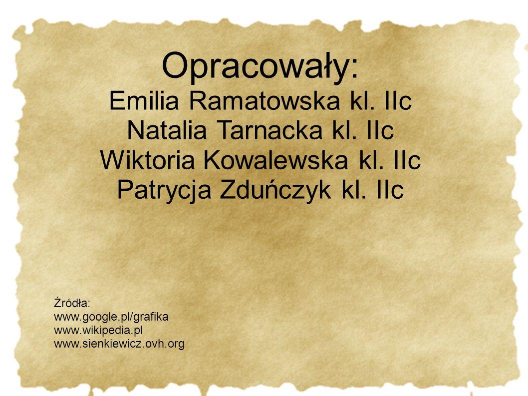 Opracowały: Emilia Ramatowska kl. IIc Natalia Tarnacka kl. IIc