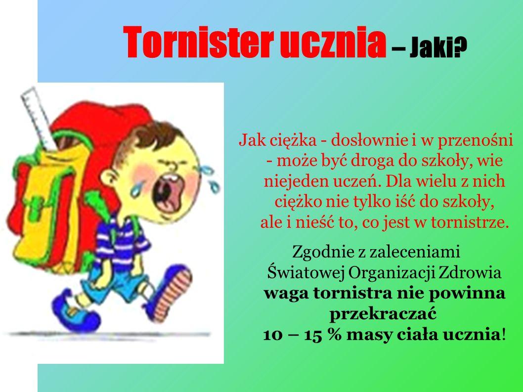 Tornister ucznia – Jaki