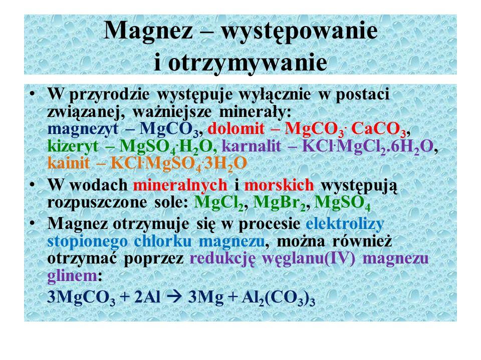 Magnez – występowanie i otrzymywanie