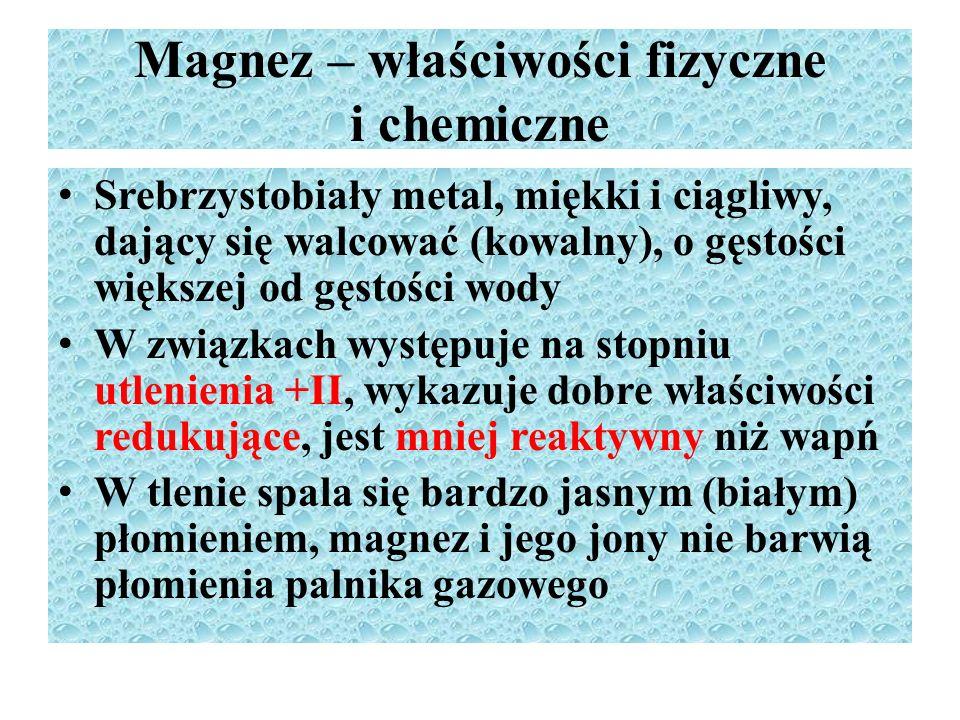 Magnez – właściwości fizyczne i chemiczne