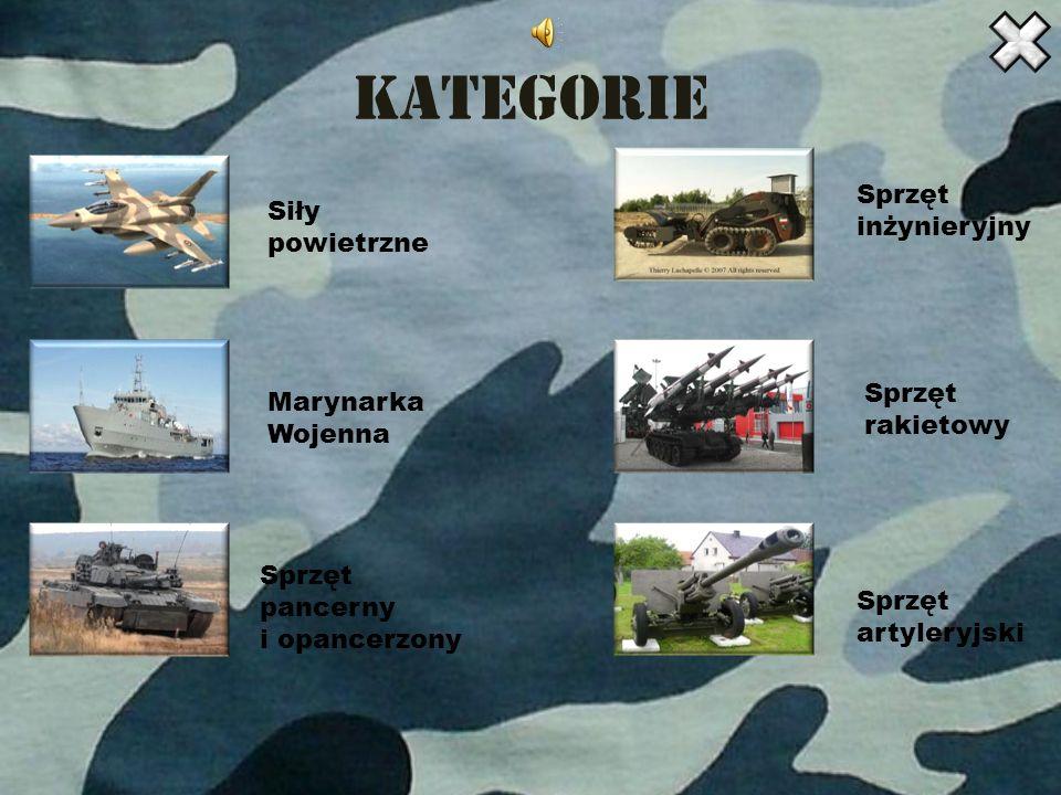 Kategorie Sprzęt Siły inżynieryjny powietrzne Sprzęt Marynarka Wojenna