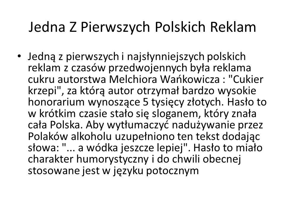 Jedna Z Pierwszych Polskich Reklam