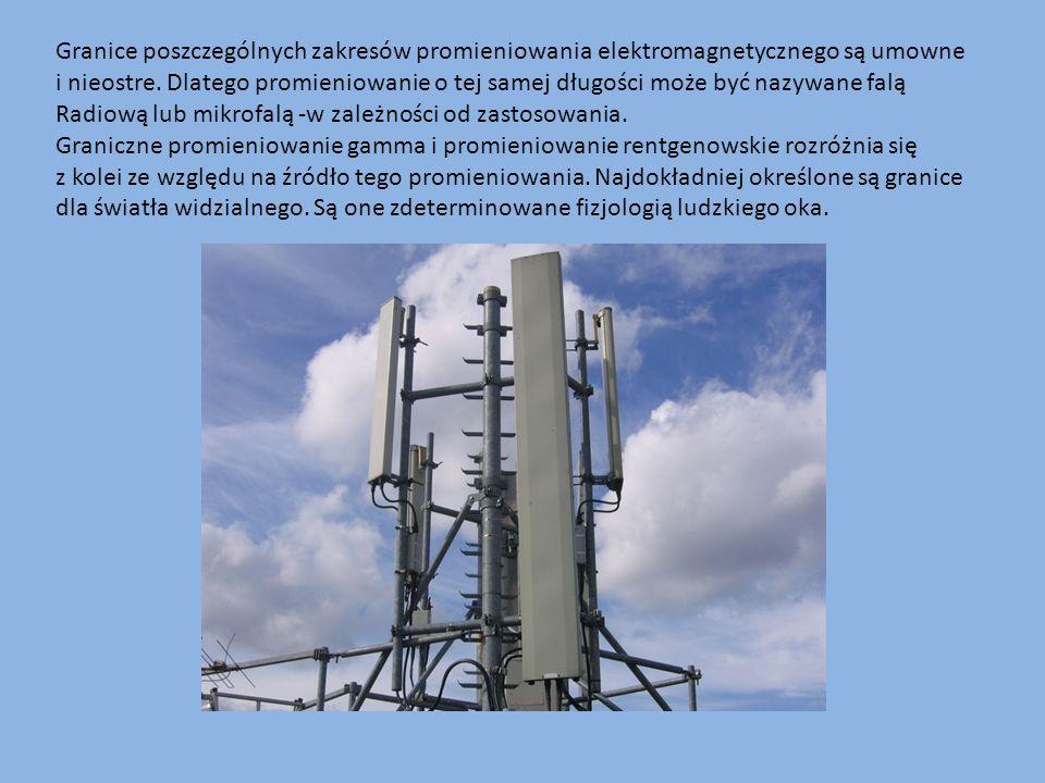 Granice poszczególnych zakresów promieniowania elektromagnetycznego są umowne i nieostre. Dlatego promieniowanie o tej samej długości może być nazywane falą