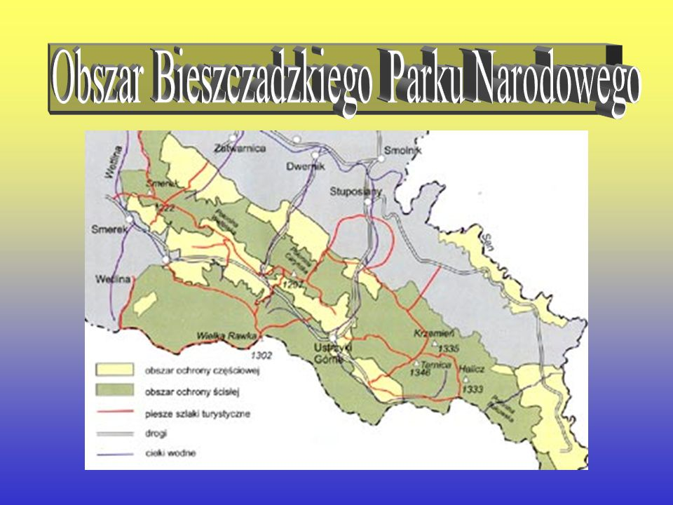 Obszar Bieszczadzkiego Parku Narodowego