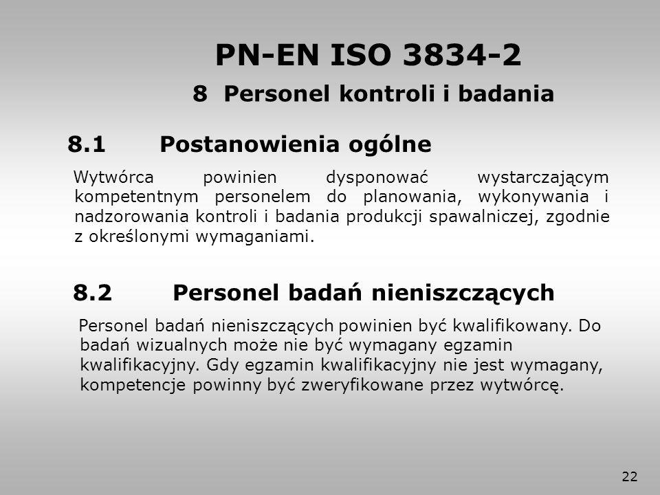 8 Personel kontroli i badania