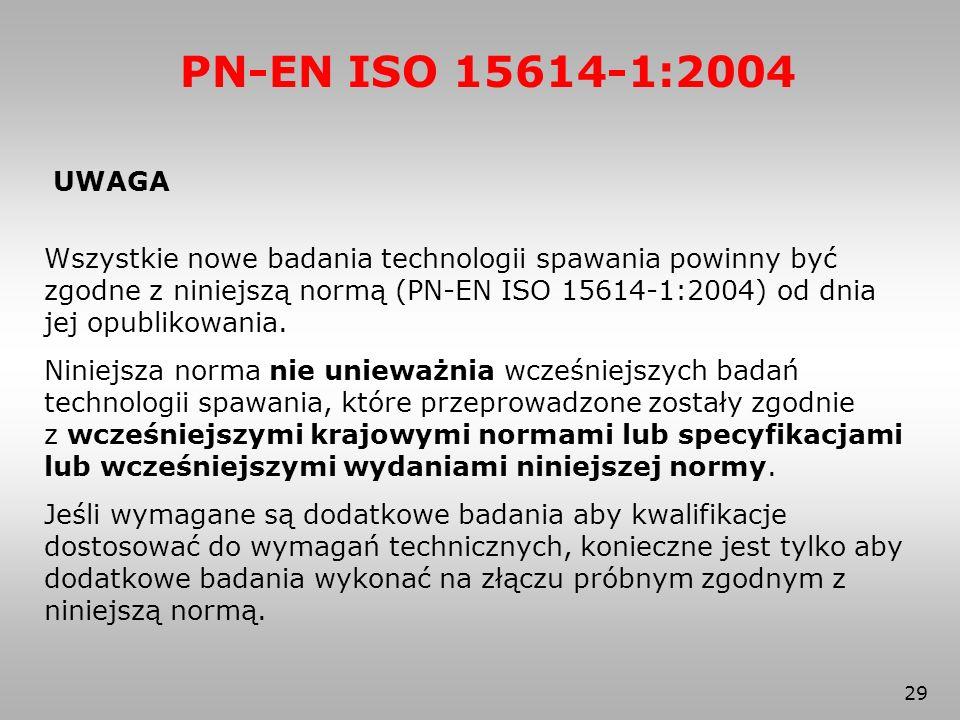 PN-EN ISO 15614-1:2004 UWAGA.