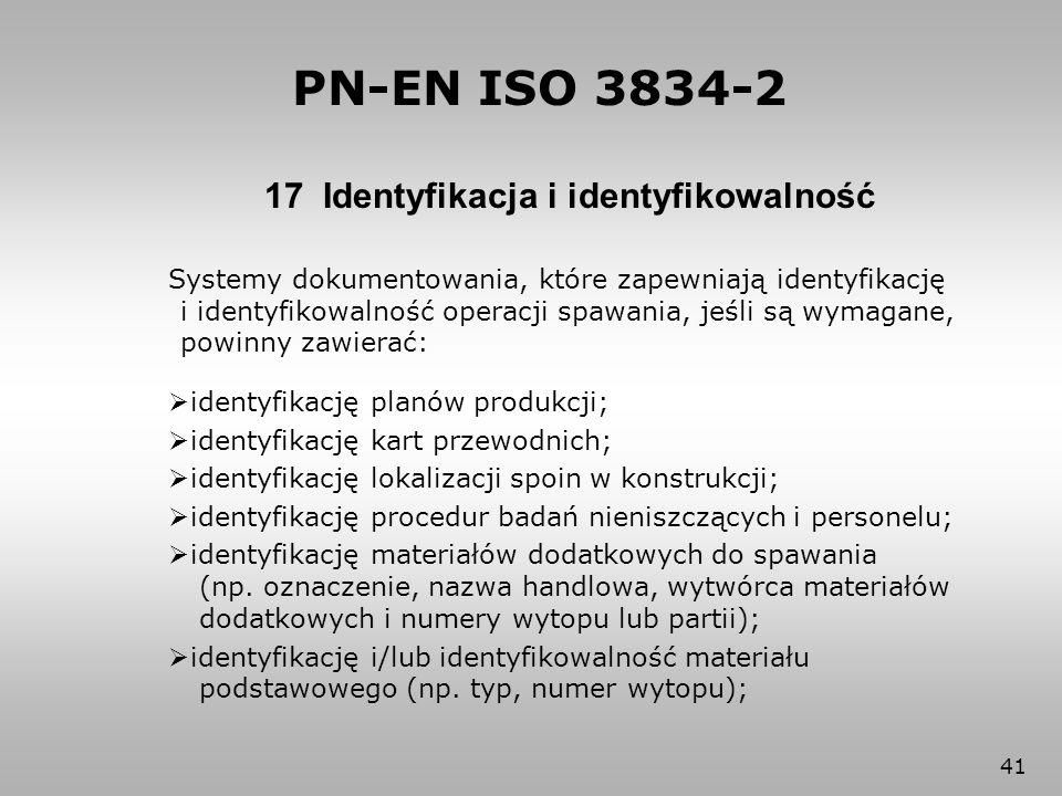 17 Identyfikacja i identyfikowalność