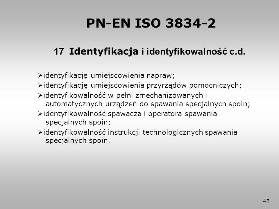 17 Identyfikacja i identyfikowalność c.d.