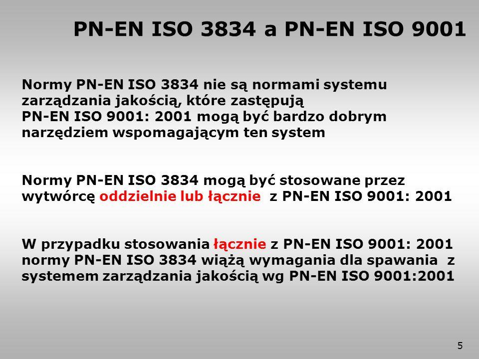 PN-EN ISO 3834 a PN-EN ISO 9001