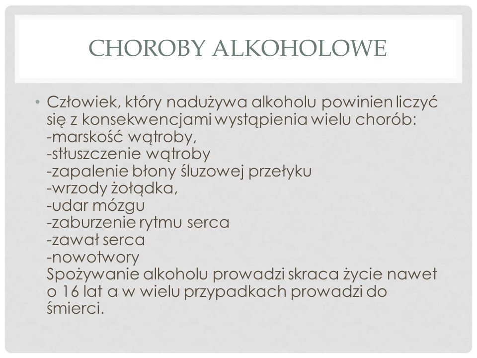 CHOROBY ALKOHOLOWE