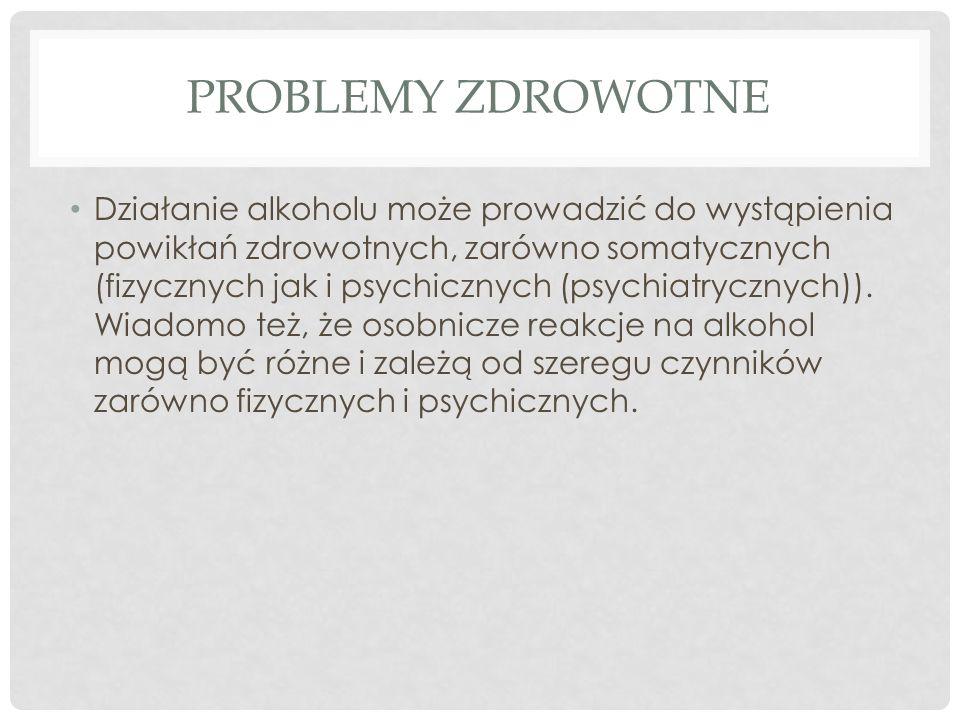Problemy zdrowotne