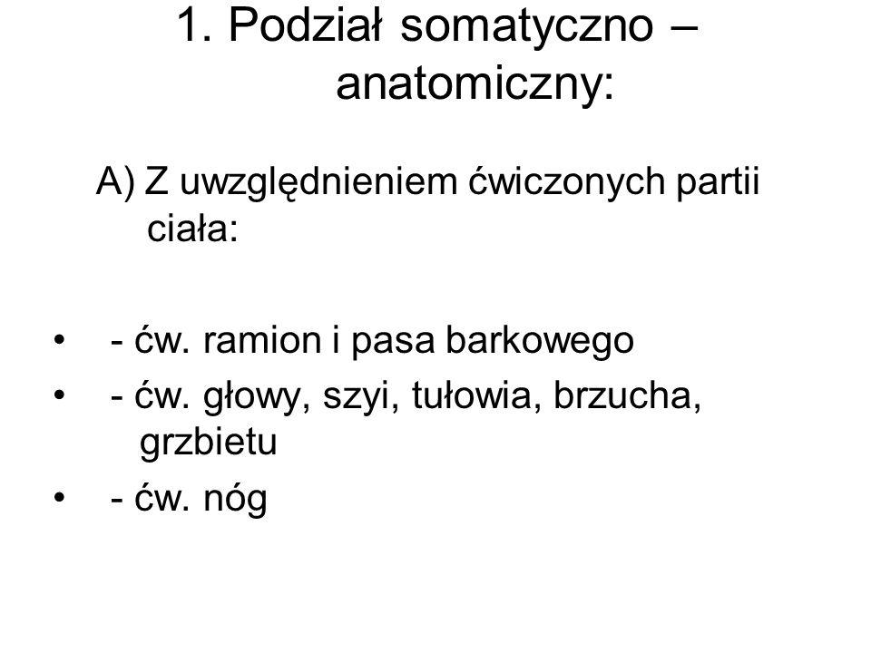 1. Podział somatyczno – anatomiczny: