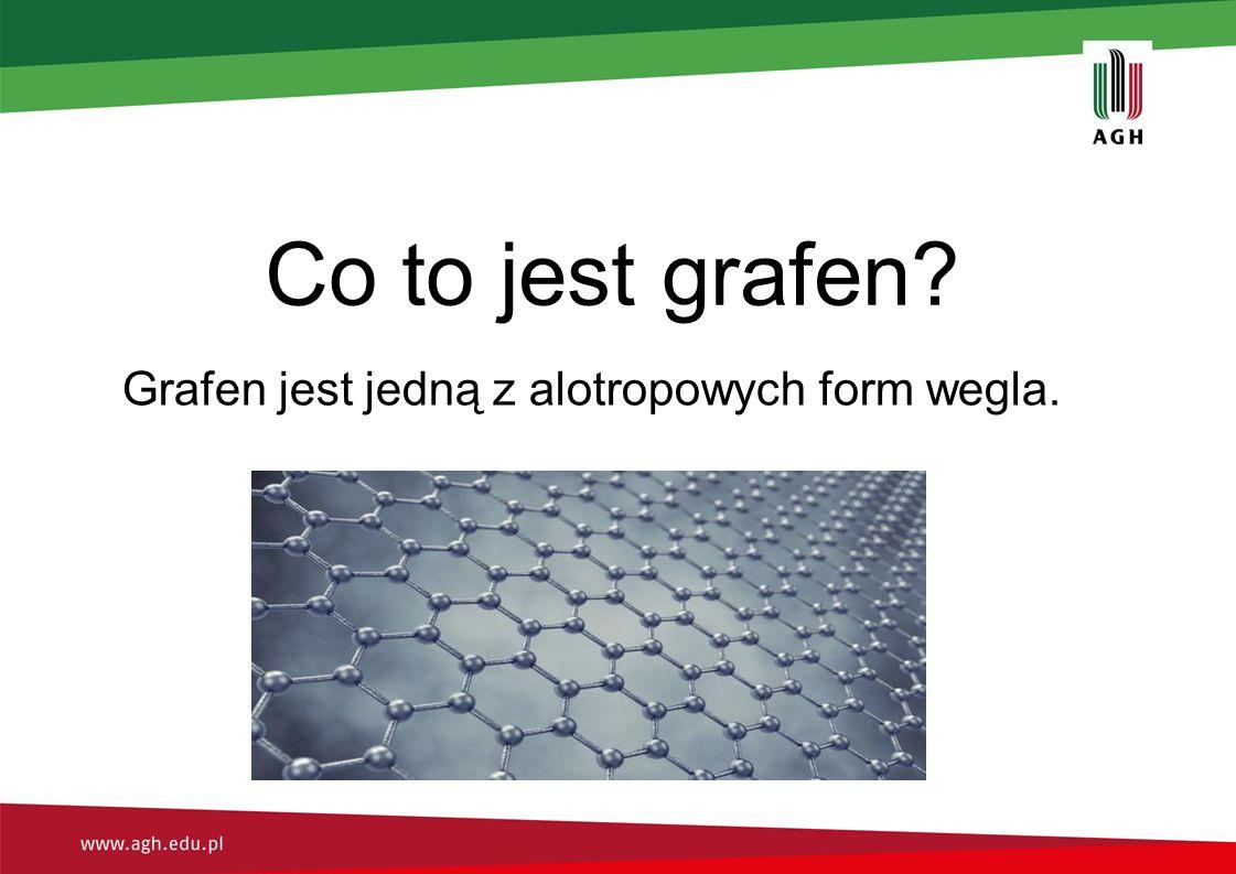 Grafen jest jedną z alotropowych form wegla.