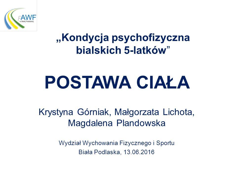 """""""Kondycja psychofizyczna bialskich 5-latków"""