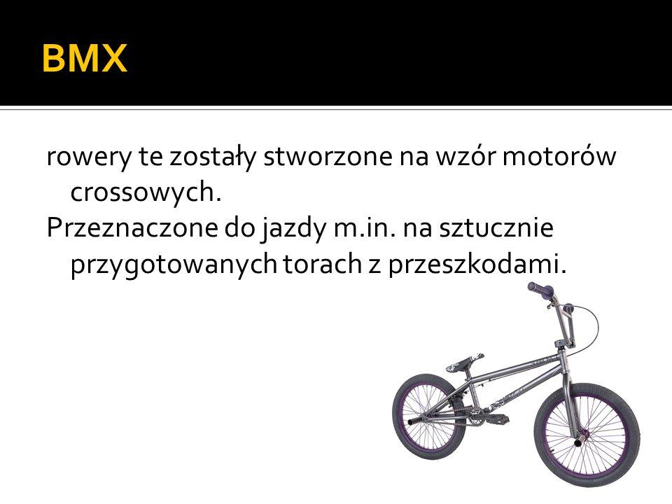 BMX rowery te zostały stworzone na wzór motorów crossowych.