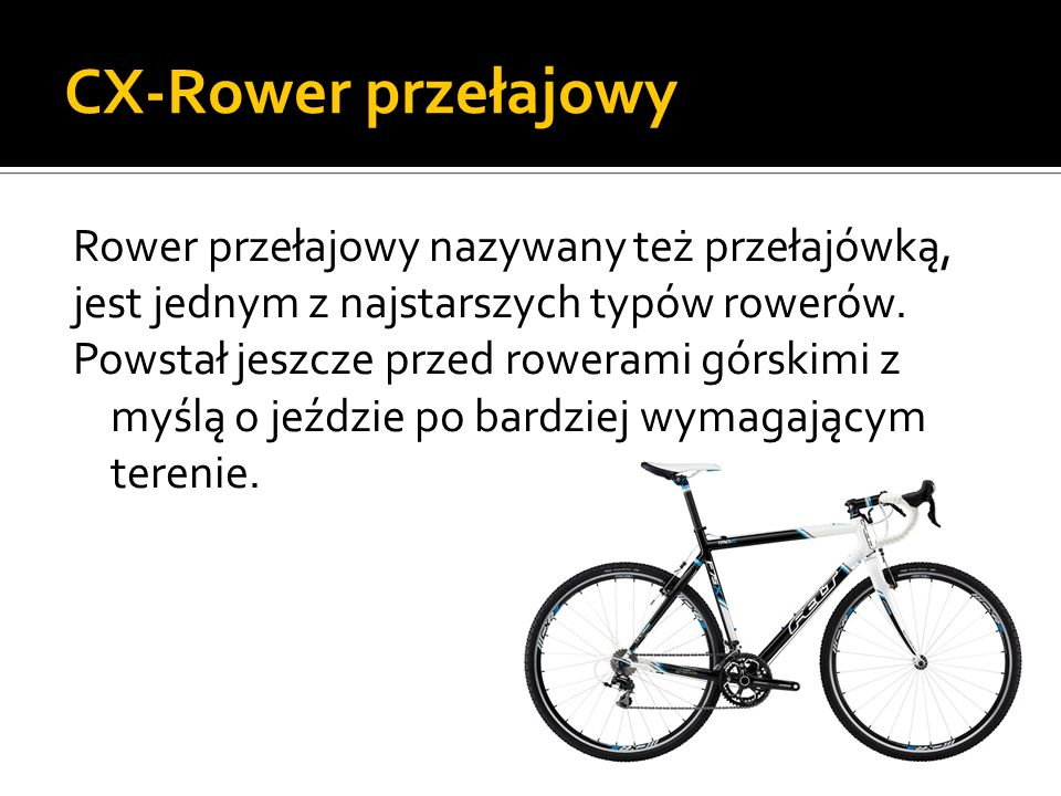 CX-Rower przełajowy