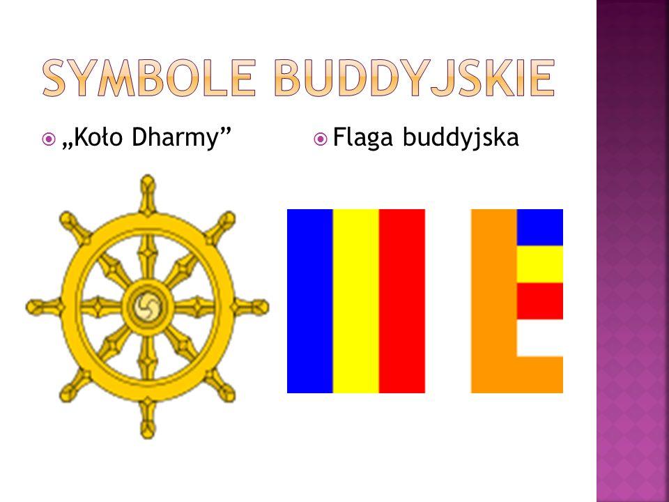"""Symbole buddyjskie """"Koło Dharmy Flaga buddyjska"""