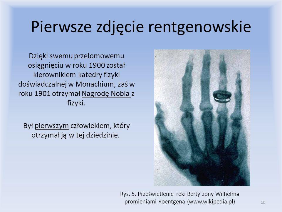 Pierwsze zdjęcie rentgenowskie