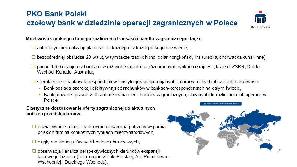 PKO Bank Polski czołowy bank w dziedzinie operacji zagranicznych w Polsce
