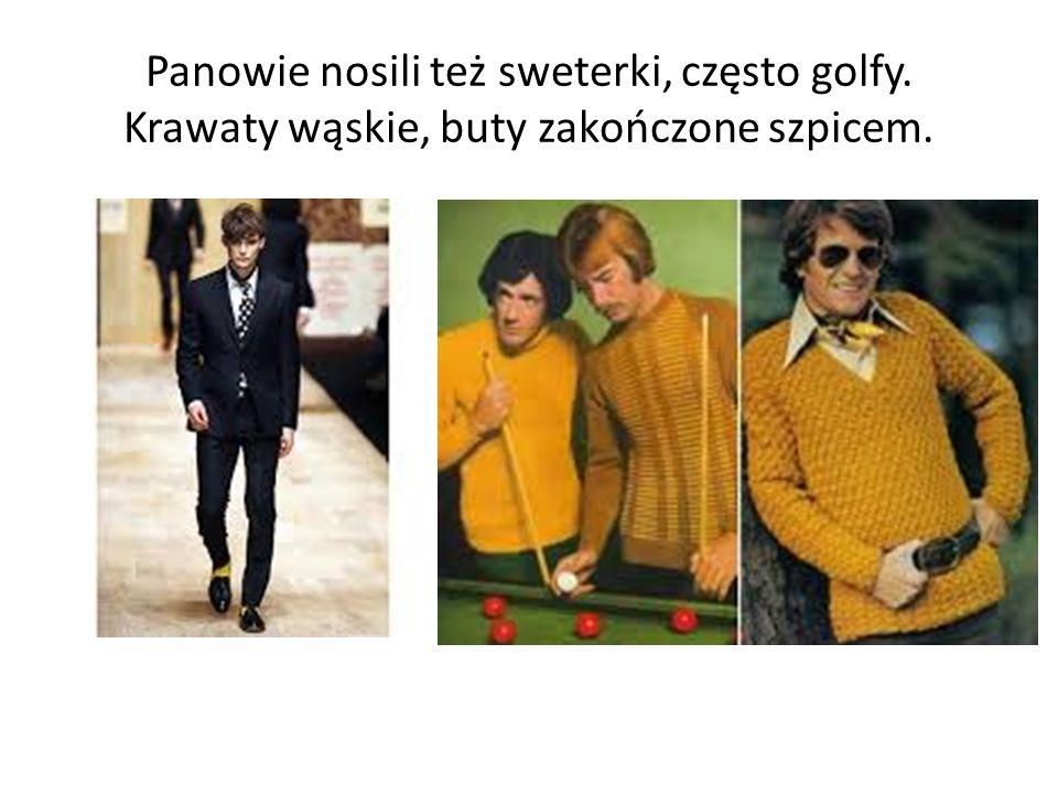 Panowie nosili też sweterki, często golfy