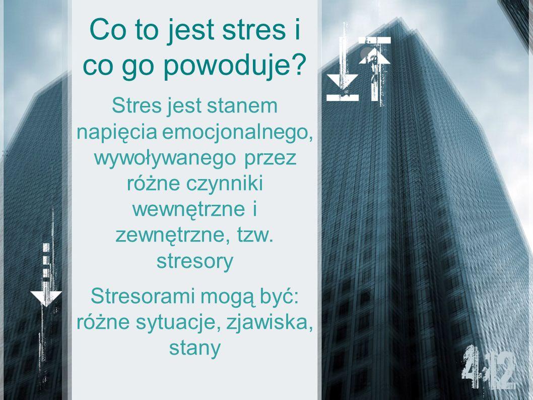 Co to jest stres i co go powoduje
