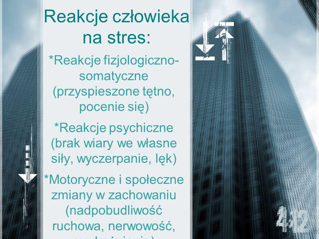 Reakcje człowieka na stres: