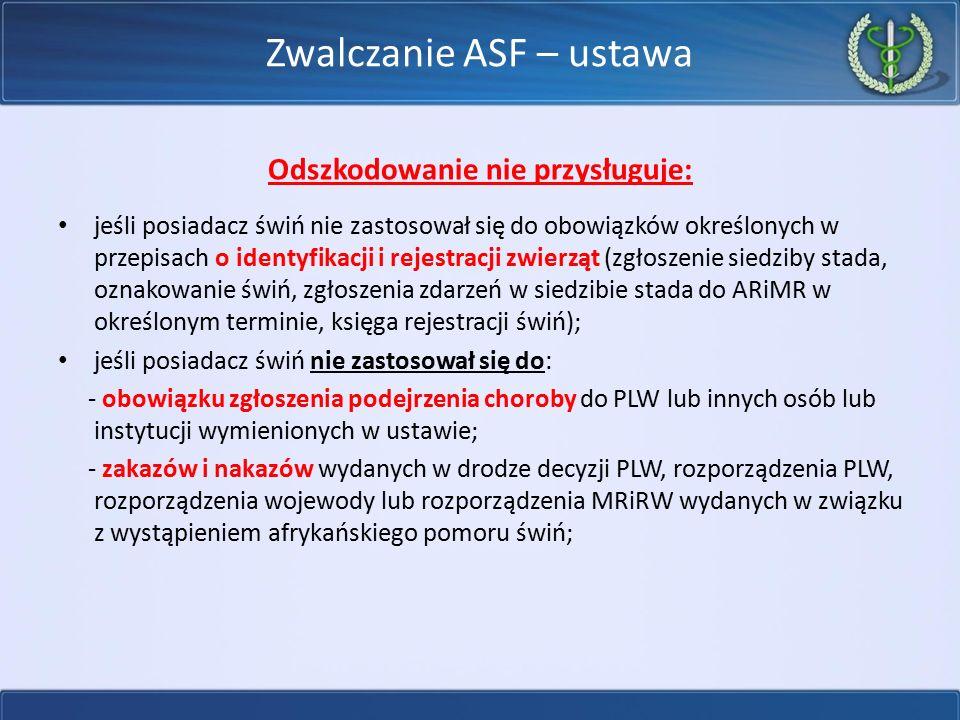 Zwalczanie ASF – ustawa