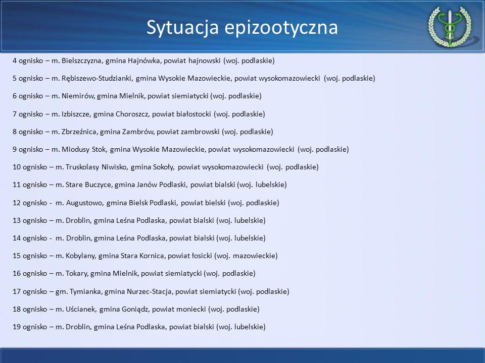 Sytuacja epizootyczna