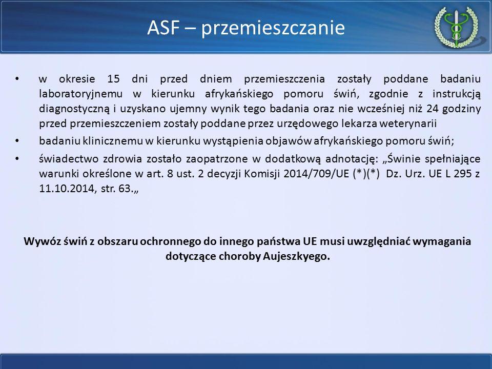 ASF – przemieszczanie