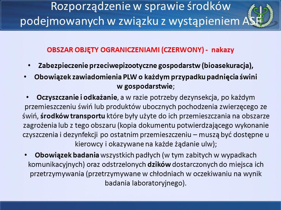 OBSZAR OBJĘTY OGRANICZENIAMI (CZERWONY) - nakazy
