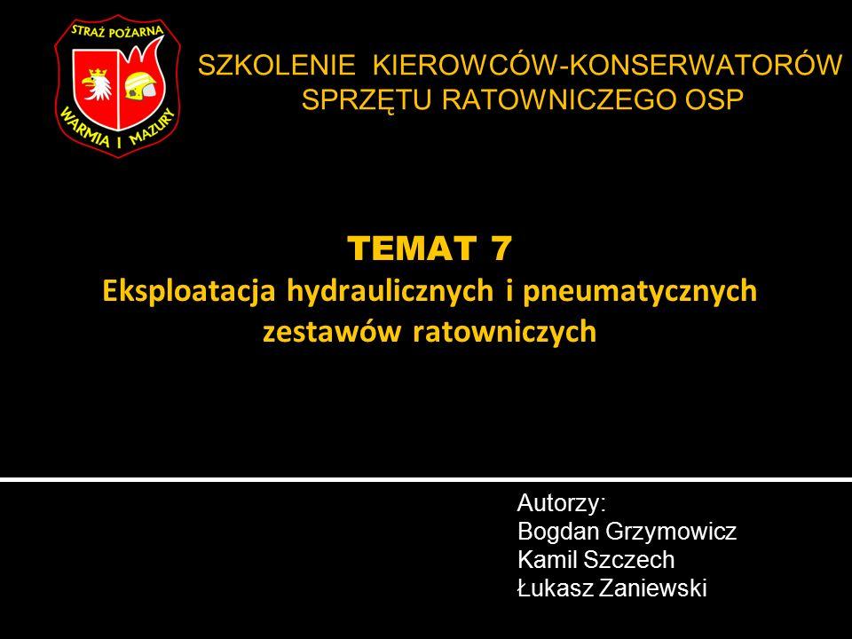 Autorzy: Bogdan Grzymowicz Kamil Szczech Łukasz Zaniewski