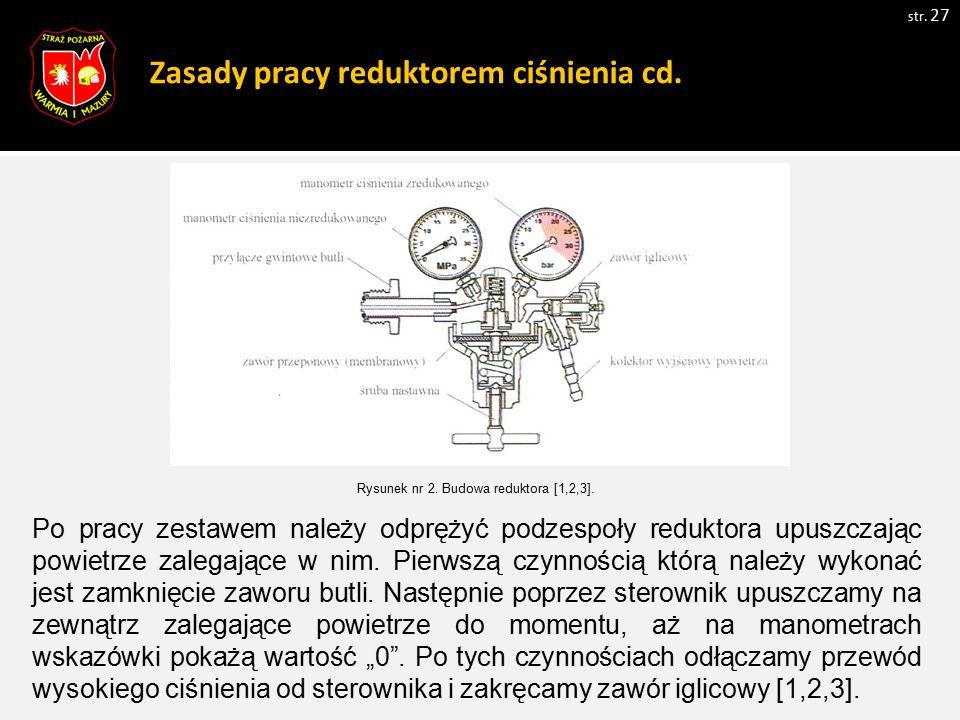 Zasady pracy reduktorem ciśnienia cd.
