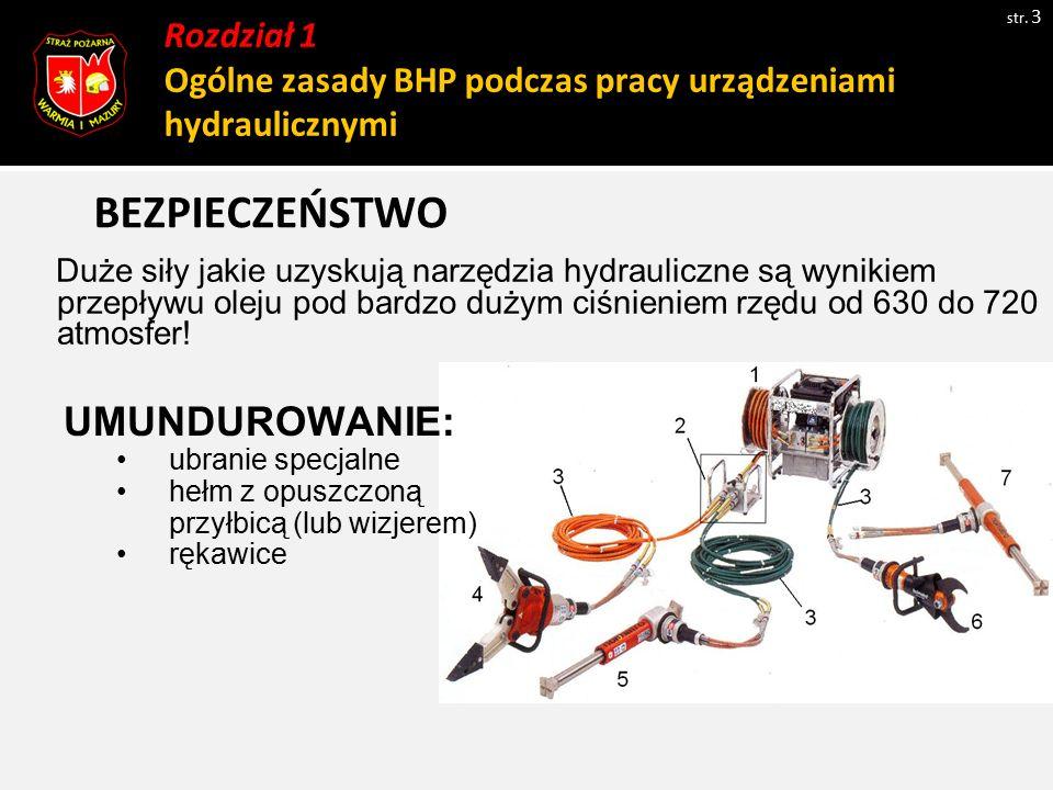 Rozdział 1 Ogólne zasady BHP podczas pracy urządzeniami hydraulicznymi