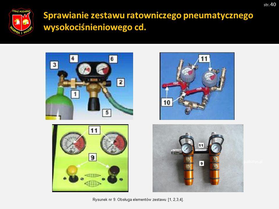 Sprawianie zestawu ratowniczego pneumatycznego wysokociśnieniowego cd.