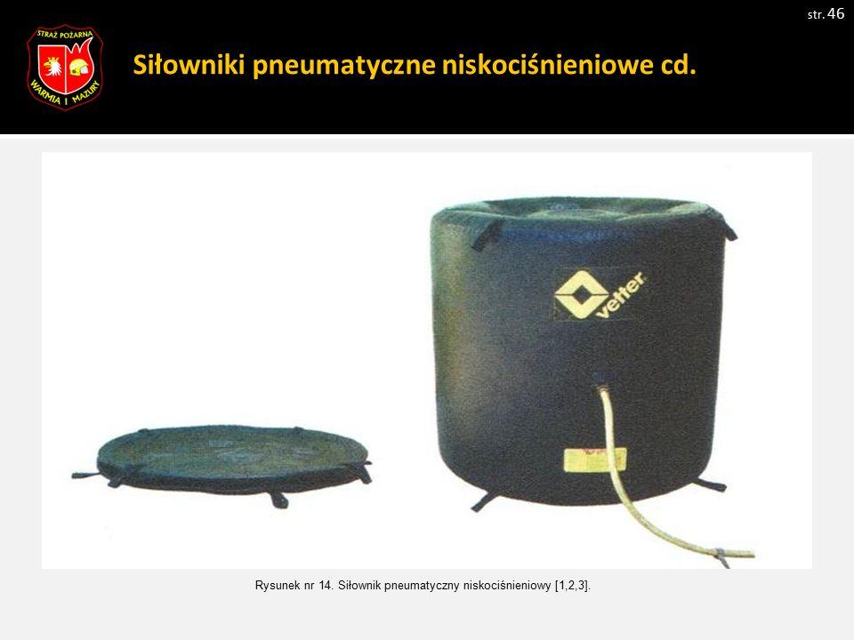 Siłowniki pneumatyczne niskociśnieniowe cd.