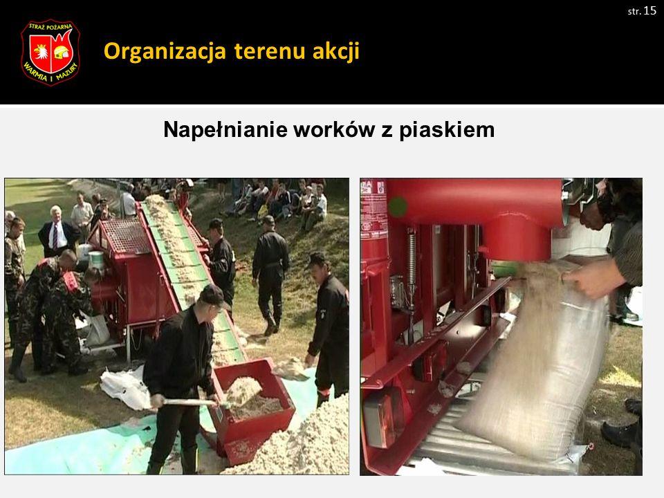 Organizacja terenu akcji