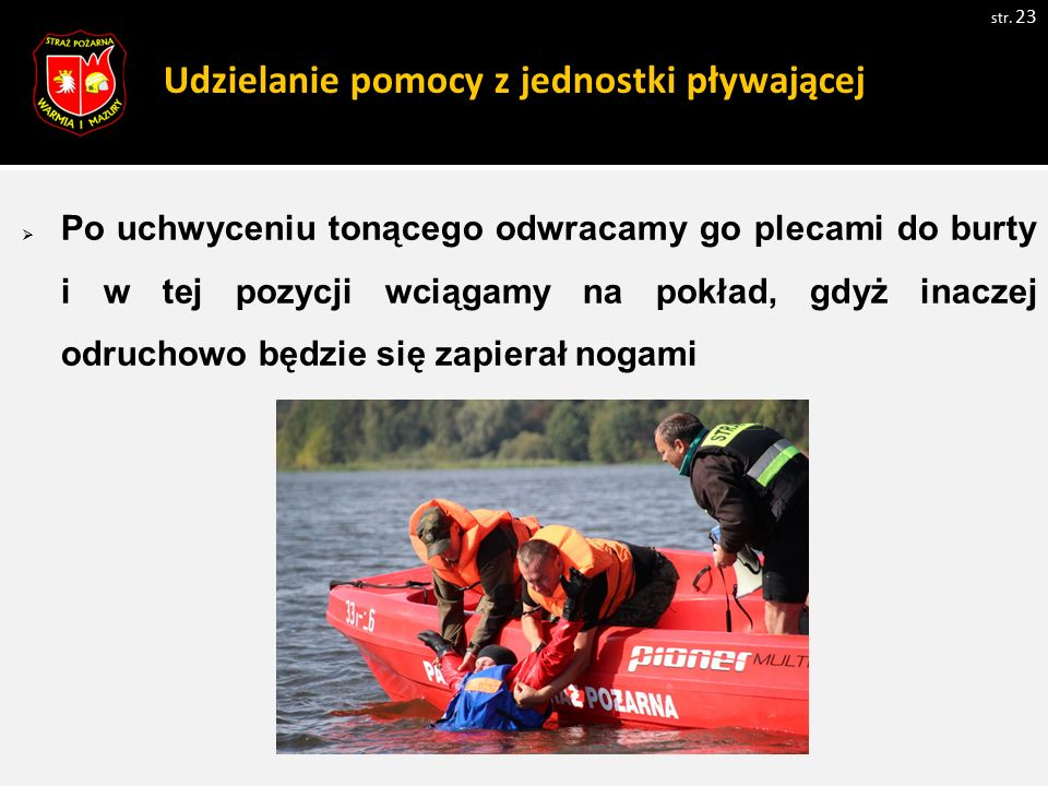 Udzielanie pomocy z jednostki pływającej